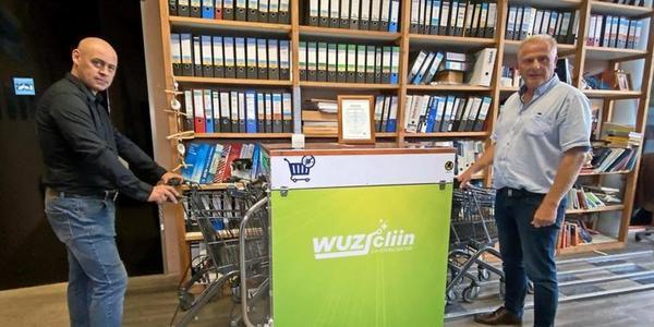 Mit dem Wuzicliin gegen Corona: Zinnowitzer Erfinder macht Einkaufskörbe keimfrei