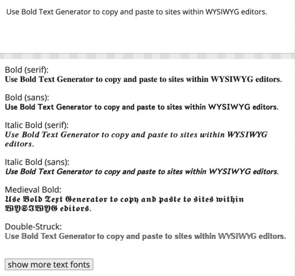 Bold Text Generator (𝐜𝐨𝐩𝐲 𝖆𝖓𝖉 𝙥𝙖𝙨𝙩𝙚) ― BoldText.io