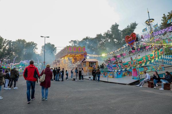 Der Oktoberrummel auf dem Schützenplatz. (Foto: Michael Wallmüller)