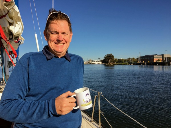 Loyal reader Dan, who hails from New Hampshire, enjoys an early morning ride on the water, especially when combined with a hot cup of coffee.