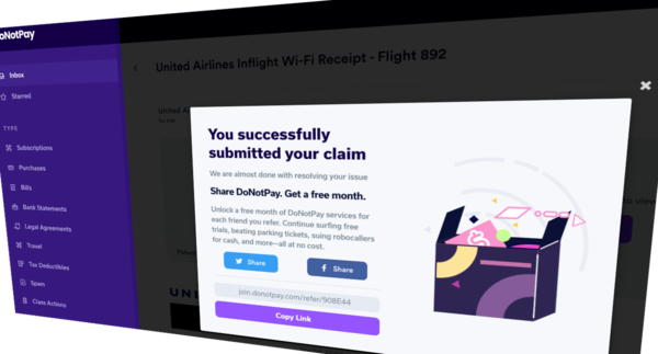 DoNotPay's 'robo lawyer' now scans your emails to fight spammers, cancel subs, and get refunds