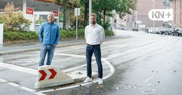 Kieler Sanitätshaus Kriwat protestiert gegen Sperrung