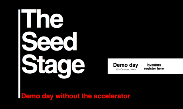 The Seed Stage: Pitch your startup to the UK's leading VCs and angels