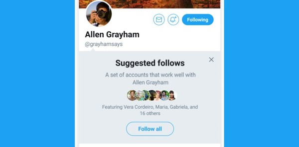 Twitter 'Suggested Follows'
