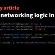 Testing Networking Logic In Swift
