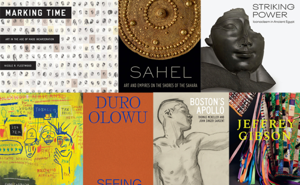 The covers of the seven selected art museum catalogues in this Sunday Edition