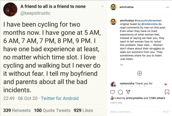 There are few slides in here, too - go to insta and read the whole thing.