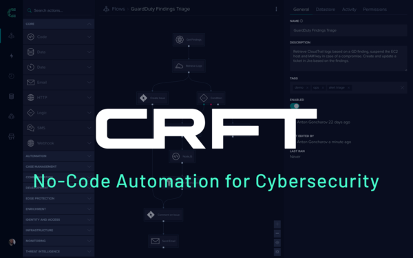 CRFT: No-Code Automation for Cybersecurity