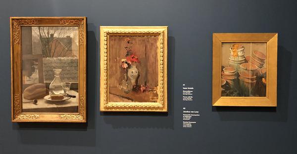 Van links naar rechts: Meiners, Israels en Van Looy in Museum Gouda