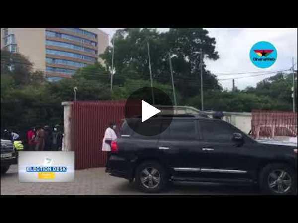 Election Desk: Akufo-Addo, Dr. Bawumia arrive at EC headquarters to file nomination