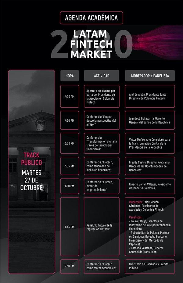 Nos complace anunciar nuestra Agenda Académica para el #LatamFintechMarket2020 🔥