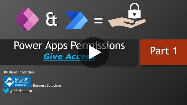 Power Apps Permissions: Give User Access