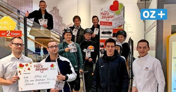 Drogerie unterstützt Skaterhalle in Stralsund