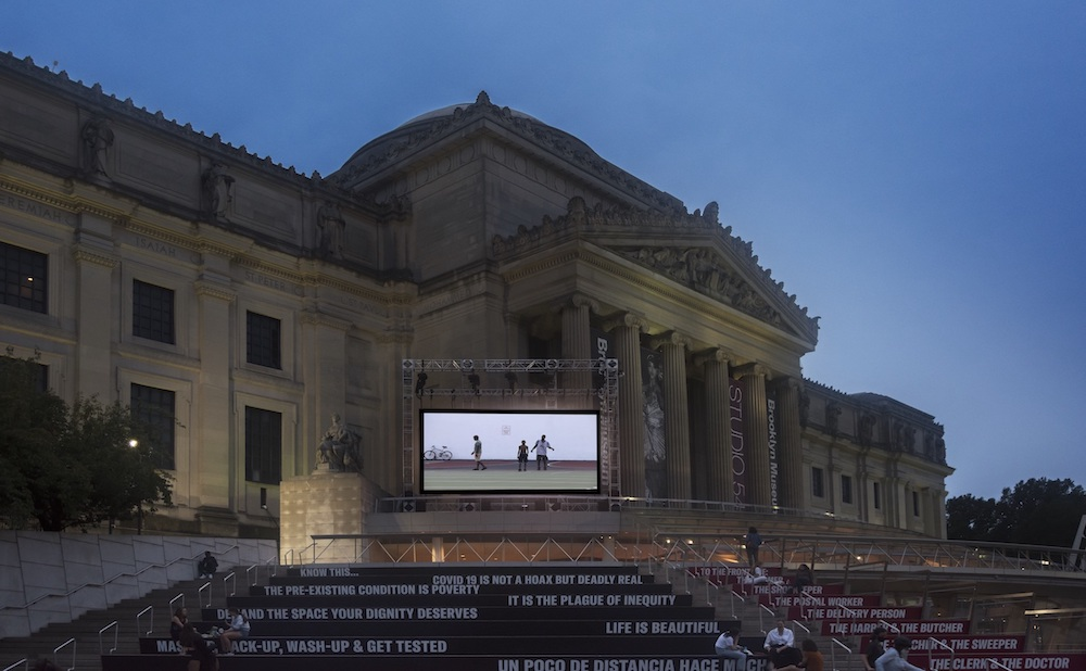 Art on the Stoop: Sunset Screenings at the Brooklyn Museum (image courtesy the Brooklyn Museum)