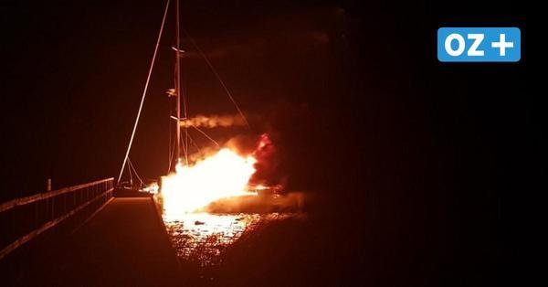 Brand an Bord: Wie sich ein Segler auf eine unbewohnte Ostsee-Insel in Vorpommern rettete
