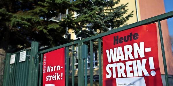 Kitas, Horte und Co.: Warnstreik an kommunalen Einrichtungen in Leipzig