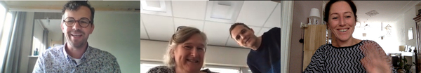 Kees (MDMX), Gea en Jurgen (Flevodruk Harlingen), Ingrid (MDMX)