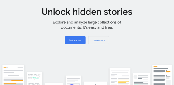 Pinpoint - Explore and analyze large collections of documents