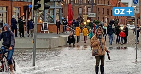Hochwasser in Wismar: Hansestädter haben Spaß statt Panik