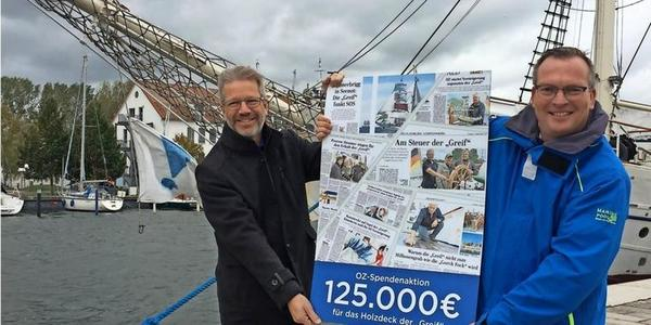 """OZ-Leser spenden 133000 Euro für die """"Greif"""": """"Alle Erwartungen übertroffen"""""""