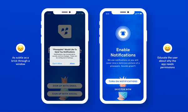 Designing better sign-up screens