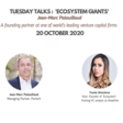 """Tuesday Talks : """"Ecosystem Giants"""" with Jean-Marc Patouillaud   October 20th"""