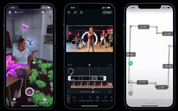 Snap uses iPhone 12 Pro's lidar sensor for AR imagery