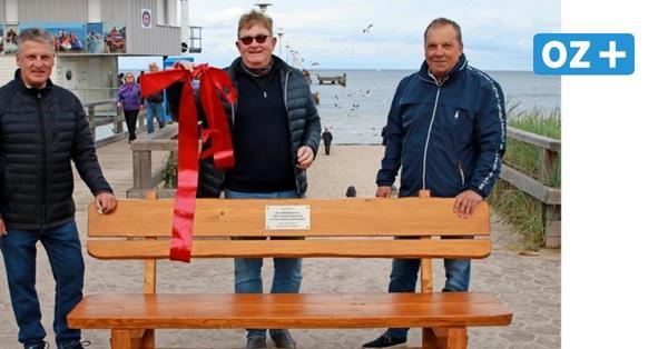 Ehemalige Hansa-Meisterspieler spendieren Bank für Usedomer Seebrücke