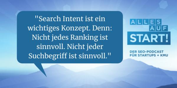 SEO: Search Intent + Suchergebnisse lesen [Alles auf Start 22]