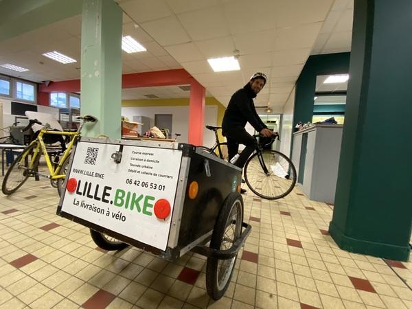 La plateforme coopérative Lille.Bike se lance dans la livraison de repas - Fietscoöperatie Lille brengt maaltijden aan huis