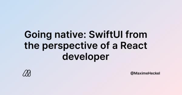 De ReactJS à SwiftUI