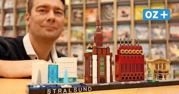 OZ-Kolumne aus Stralsund: Stadt-Skyline als Lego-Modell