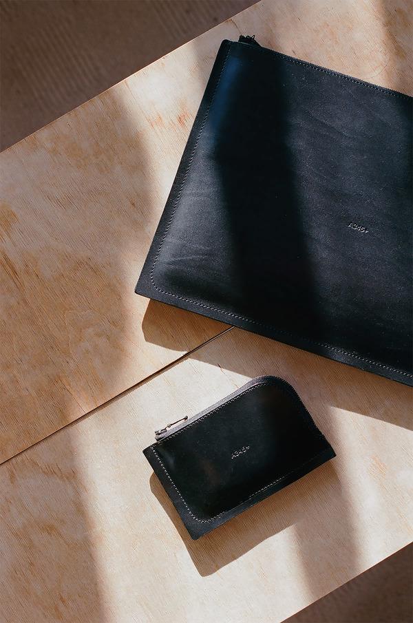 A7 Wallet + C4 Laptop Case in Black