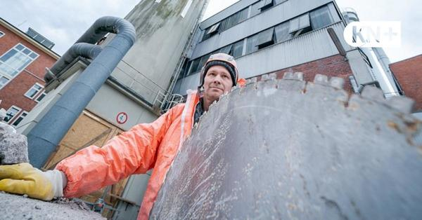 Heizkraftwerk in Kiel: So wird der Schornstein abgesägt