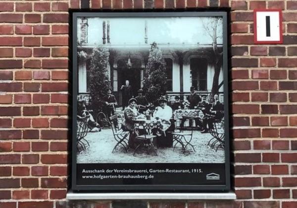 Das Bild von 1915 zeigt das Garten-Restaurant der Vereinsbrauerei. Foto: Peter Degener