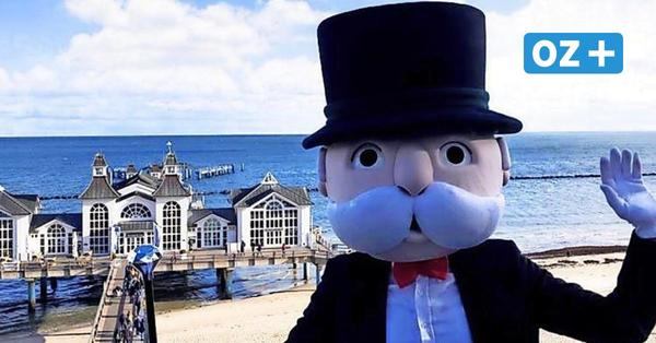 Mr. Monopoly zu Besuch auf der Insel Rügen