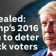 Trump's campagnestrategie om miljoenen zwarte Amerikanen ervan te weerhouden in 2016 te stemmen