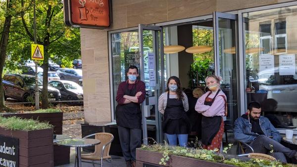 Joanna Scott and her team at S'mug Coffee Bar.