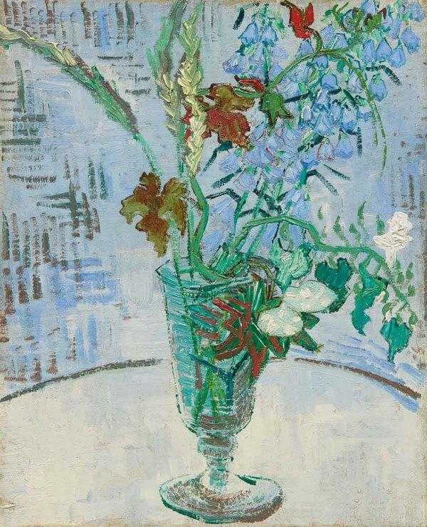'Fleurs dans un verre' - olieverf op doek: Vincent van Gogh