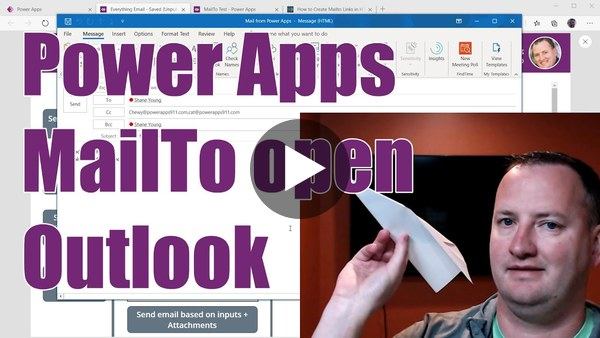 Power Apps MailTo open Outlook by Shane Young