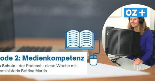 Bildungsministerin Bettina Martin zu Gast beim Podcast #ozplusschule