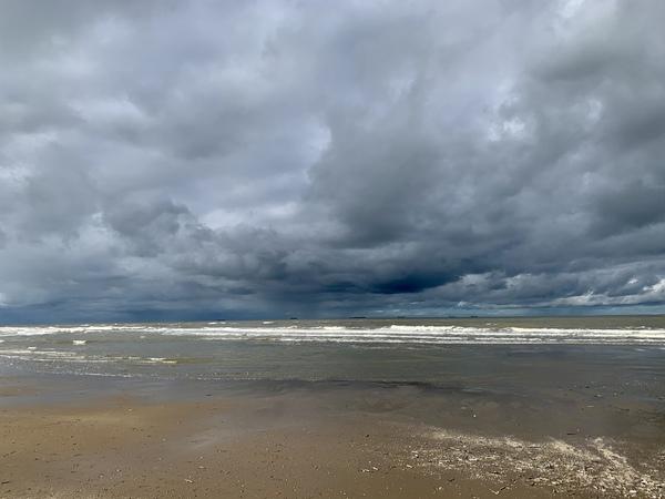Strand bij Katwijk.