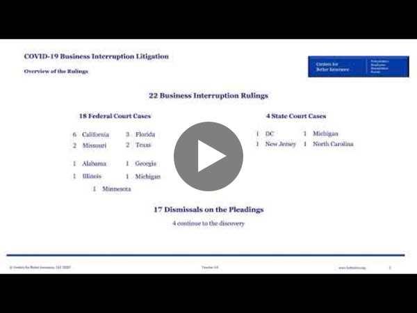 COVID-19 Business Interruption Litigation Landscape (Oct. 22, 2020)
