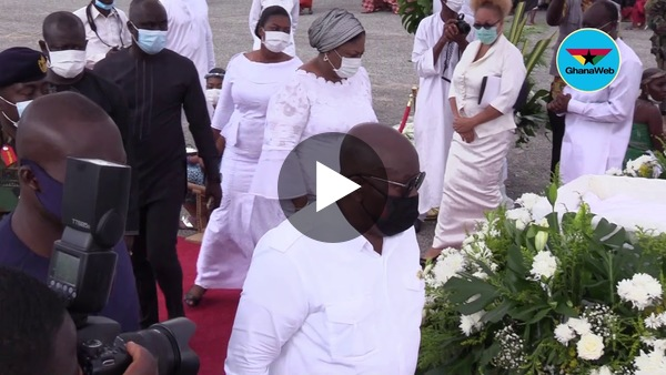 Akufo-Addo pays last respect to JJ Rawlings' mother