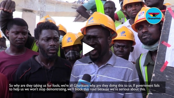 'Mahama afa' – Pokuase interchange workers threaten to vote out Akufo-Addo over GH¢20 daily wages