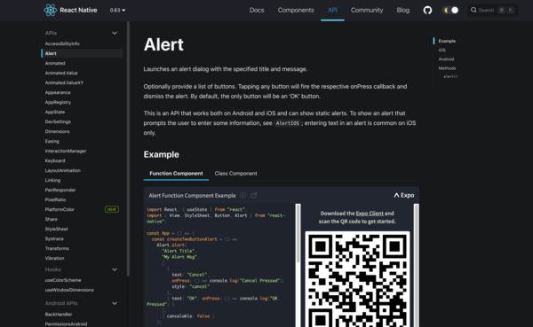React Native: website migration