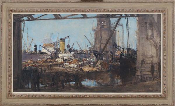 'De gele pijp' 1931 - olieverf op doek: Johan van Mastenbroek (kavel 224, Vendu Rotterdam)