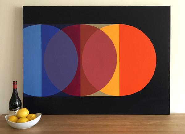 David Stein, La Geometría de la Luz, acrylic on canvas