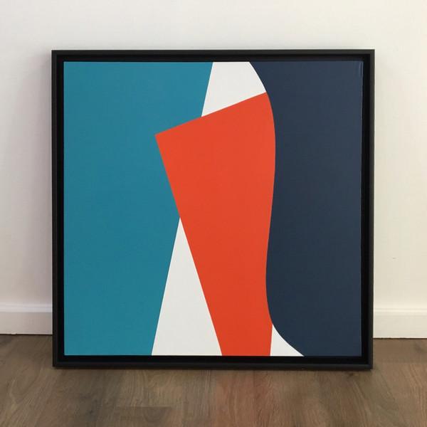 David Stein, A Quick Peek, acrylic on canvas