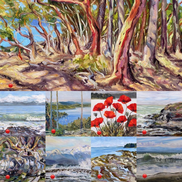 "A small sampling of the many ""Terrill Welch paintings"" sold in 2020"